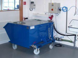 Компактный шламоосушающий контейнер с верхней крышкой и роликами