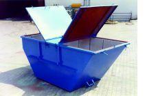 Шламоосушающий контейнер с двумя открытыми крышками