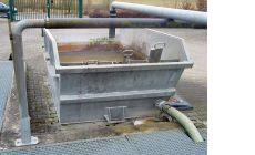 Шламоосушающий контейнер с внутренним регулируемым шиберным переливом