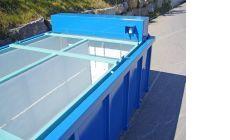 Большой шламоосушающий контейнер с модулем обогрева
