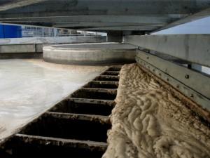 Сбор шлама на бетонном флотаторе