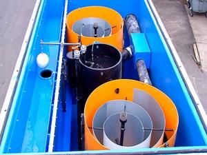 Параллельная установка спиральных сепараторов