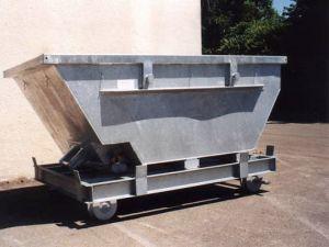 Стандартная оцинкованная контейнерная тележка на рельсовом ходу