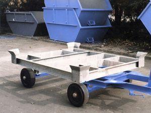 Стандартная контейнерная тележка на колёсном ходу